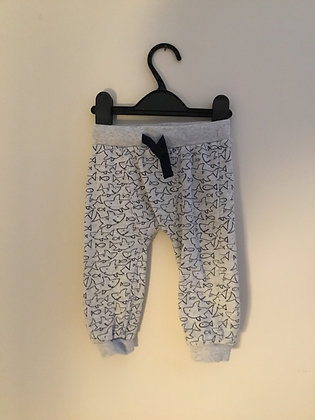 Fish print patterned joggers (age 9-12 months)
