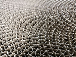 Macro photo of corrugated cardboard roll