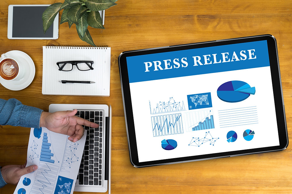 Press Release Businessman working at off