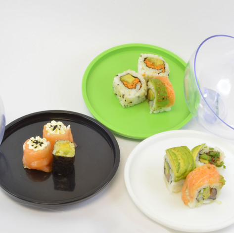 Sushi Selected plates open