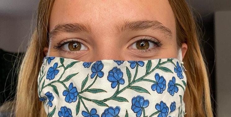 Indian block print adult face masks