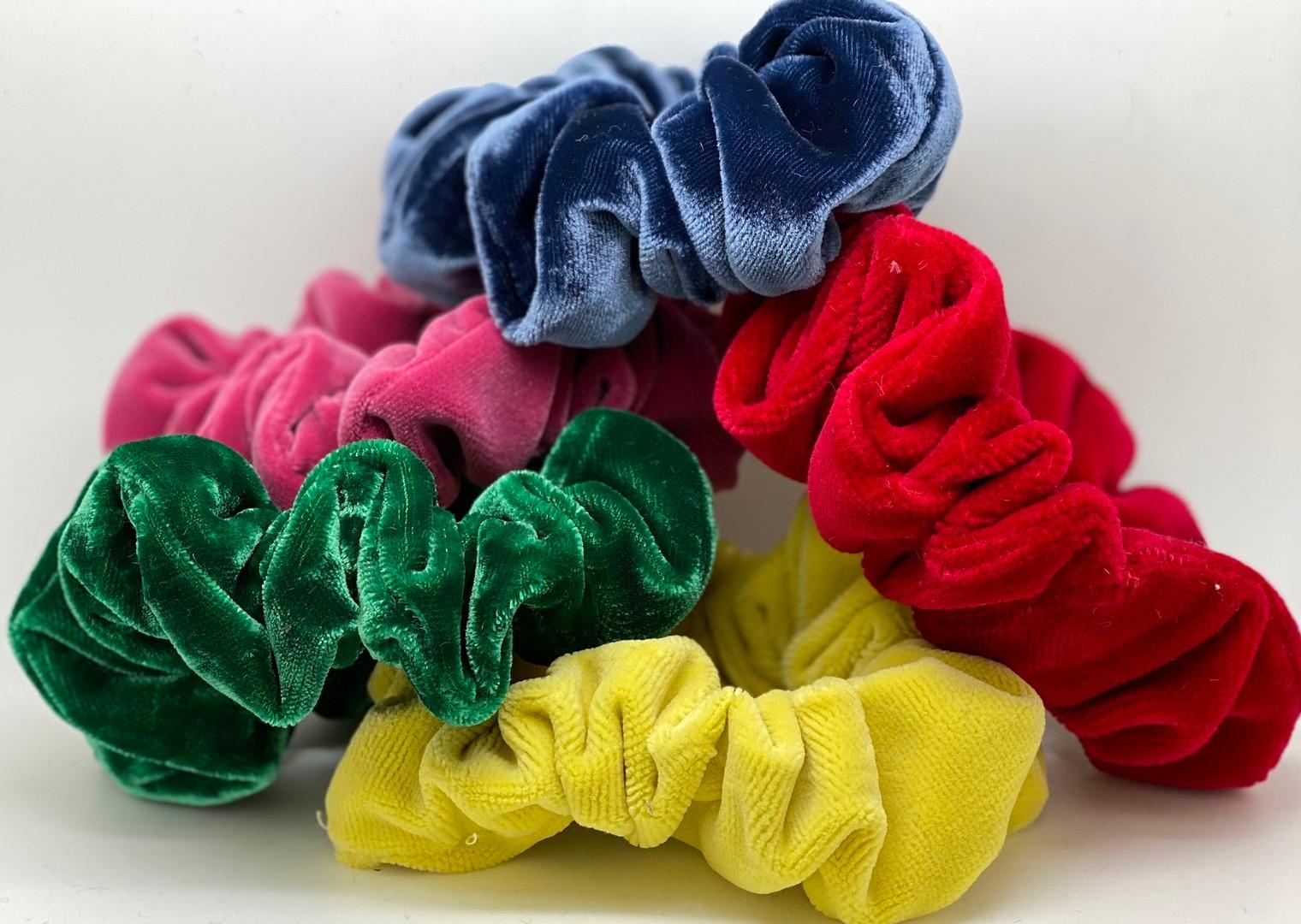 Velvet hair scrunchies