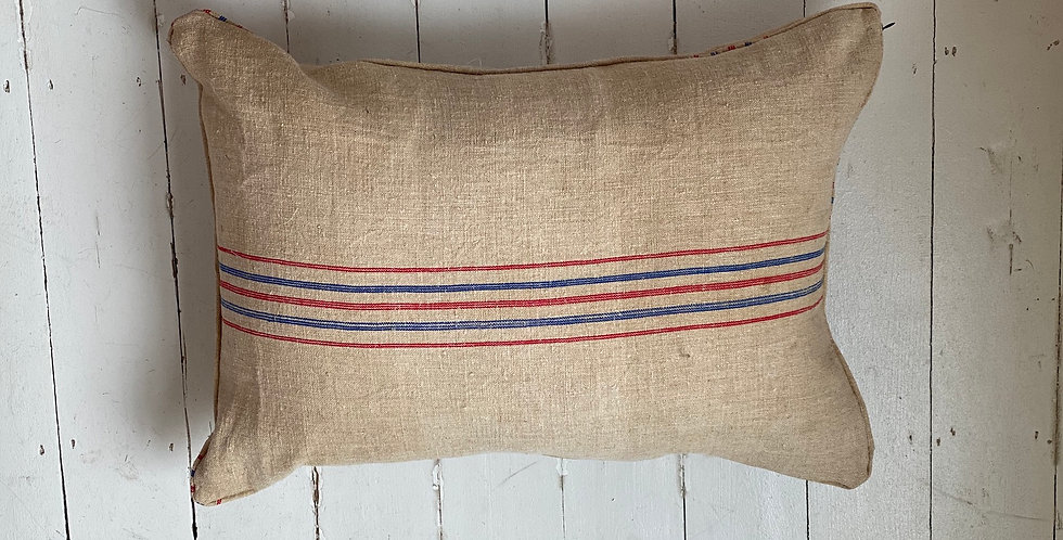 Vintage grainsack cushion