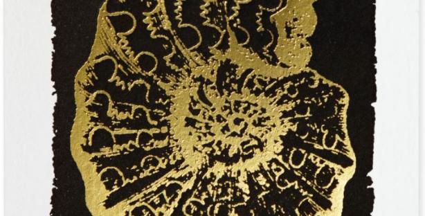 Stunning card featuring ammonite
