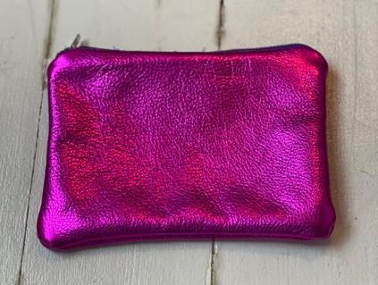 pink metallic purse