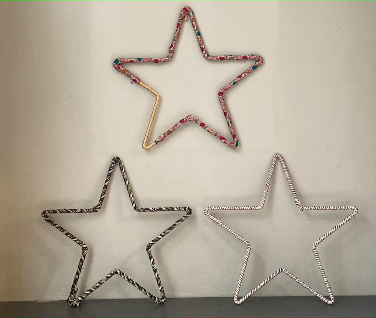 Metal stars for display