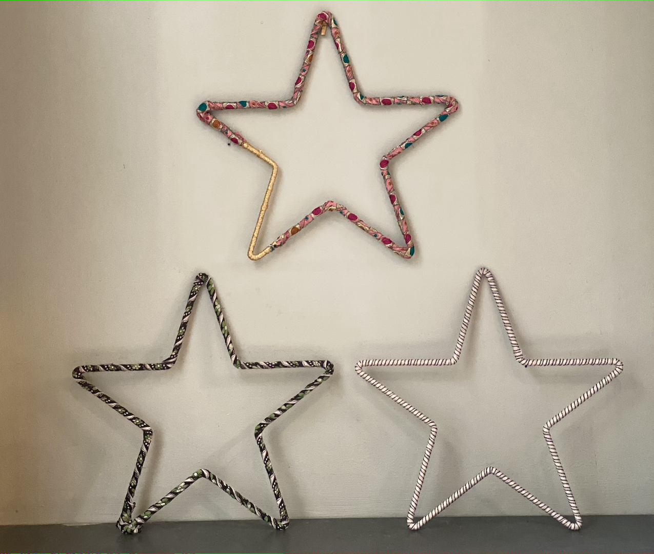 Metal stars for display