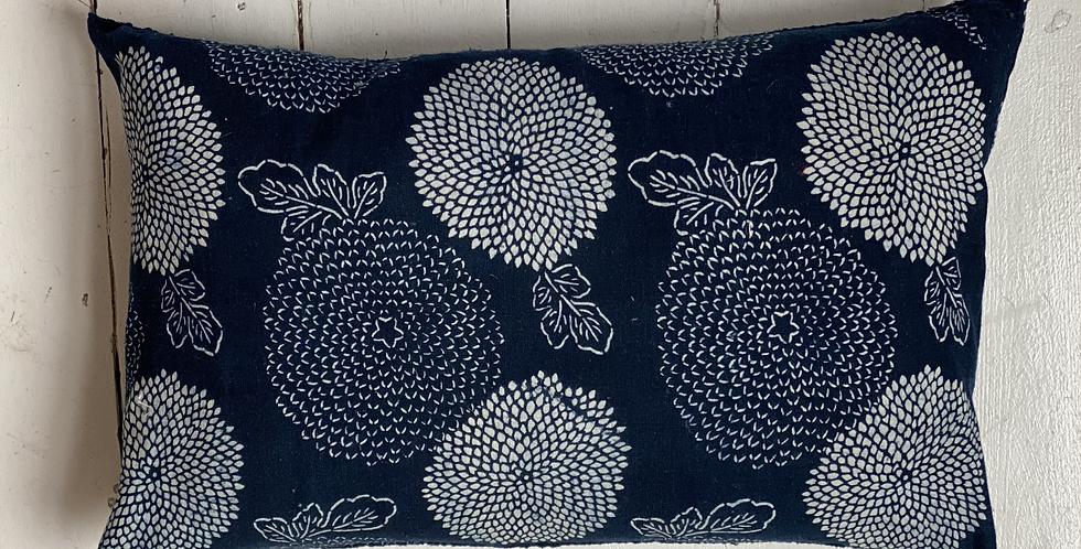 Rare Japanese vintage indigo cushion