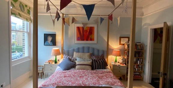 Get the party started with oversized Indian block print bunting