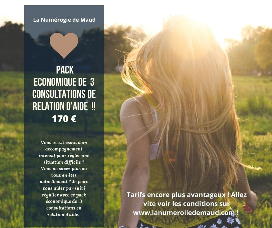 PACK TROIS CONSULTATIONS RELATION D'AIDE