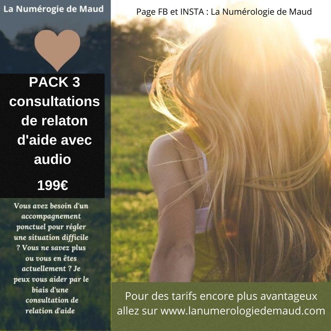 PACK TROIS RELATION D'AIDE + AUDIO