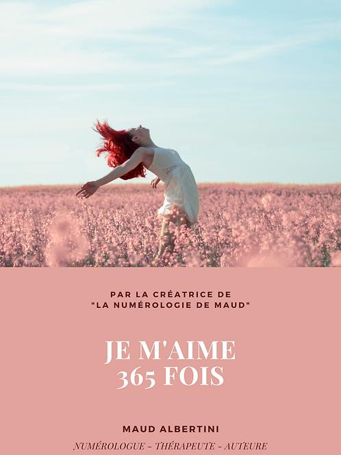 "E-book ""JE M'AIME 365 FOIS"""