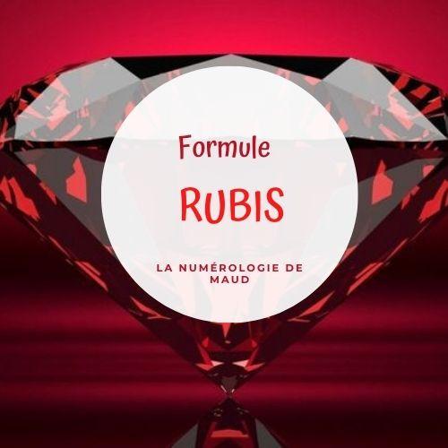 FORMULE RUBIS