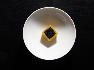Calabaza, miso y caviar
