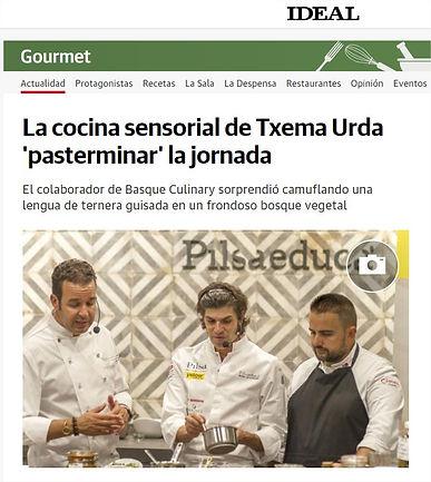 LA COCINA SENSORIAL DE TXEMA URDA