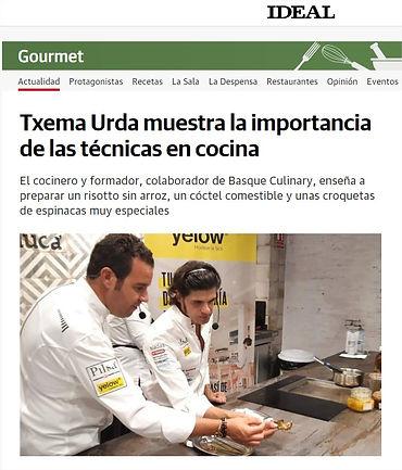 TXEMA URDA MUESTRA LA IMPORTANCIA DE LAS TECNICAS DE COCINA