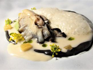 Ostra, Cilantro y espumoso de Celery