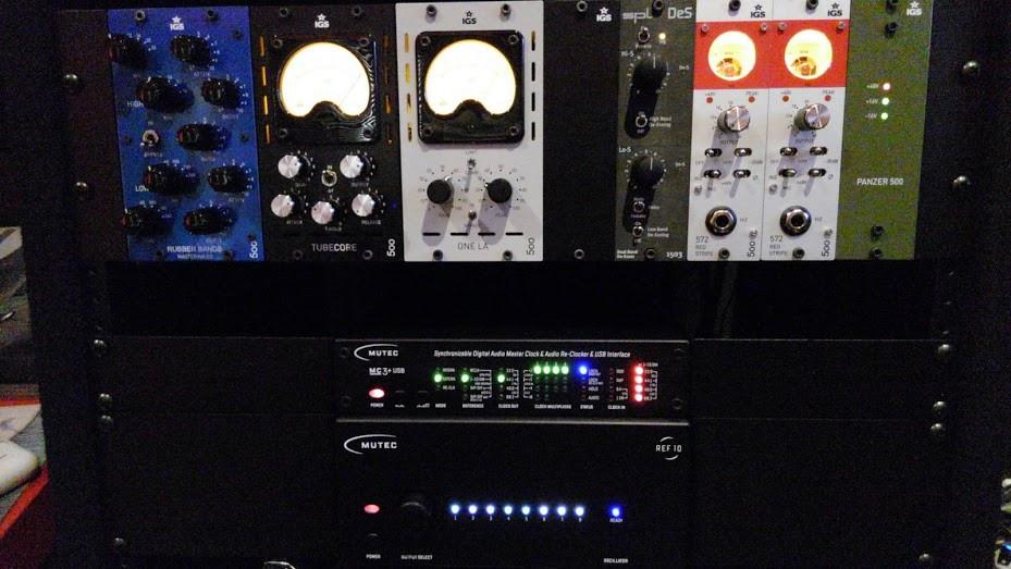 IGS AudioとMUTECをラックマウント