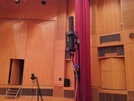 ホールレコーディングで、HUM Auidoのステレオマイクを使用