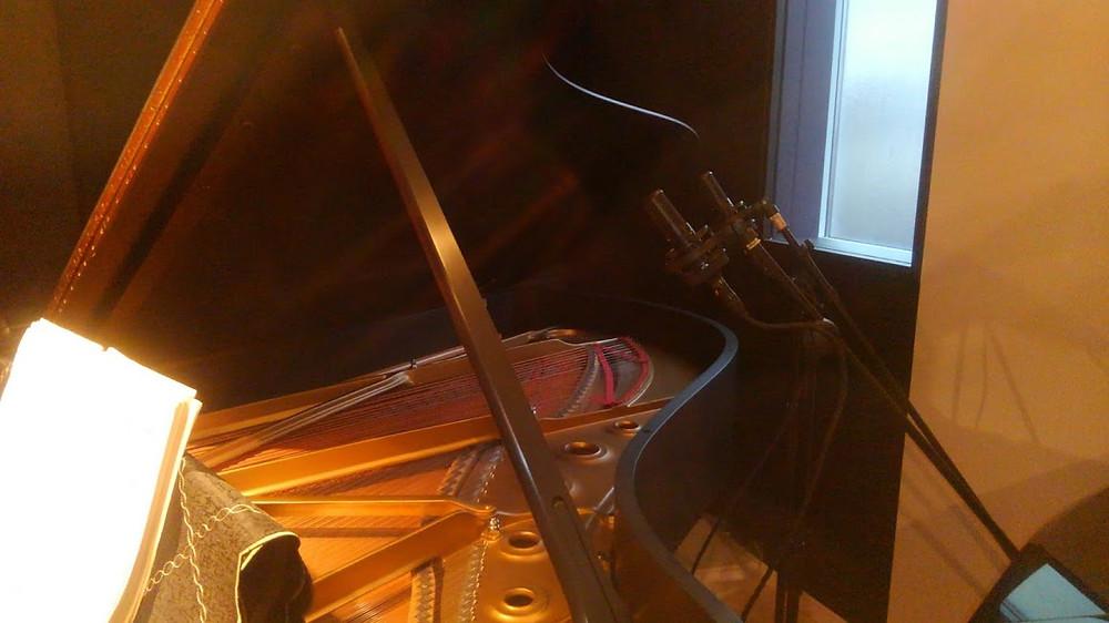 ピアノレコーディング ソニーマイクC100