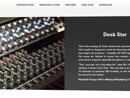 ドイツのハイエンドスタジオ機器メーカー、elysiaのサイトにレビューが掲載