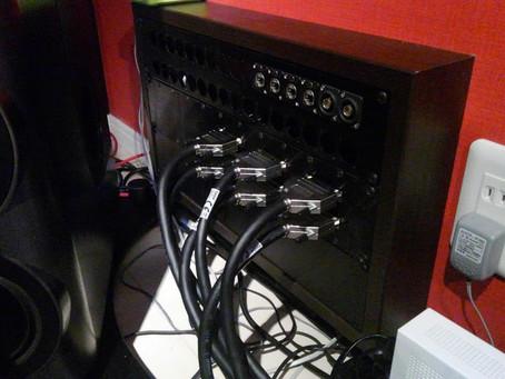 スタジオ内のワイヤリング再構築作業を行いました。