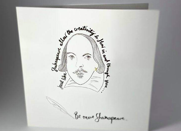 Shakespeare lover, Be More Shakespeare Greeting Card