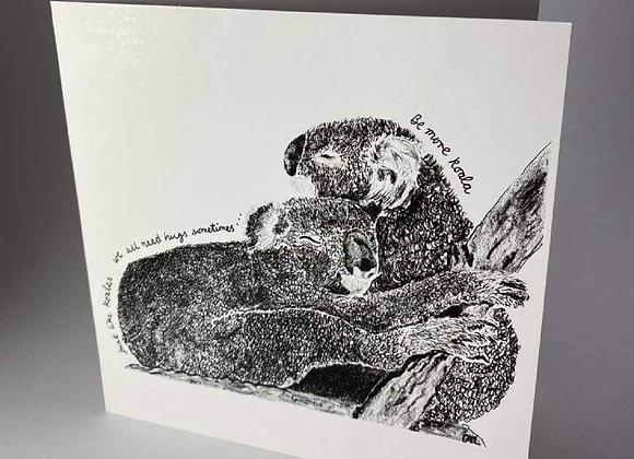 Koala Hugs, Be More Koala Greeting Card