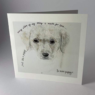 Be more puppy card