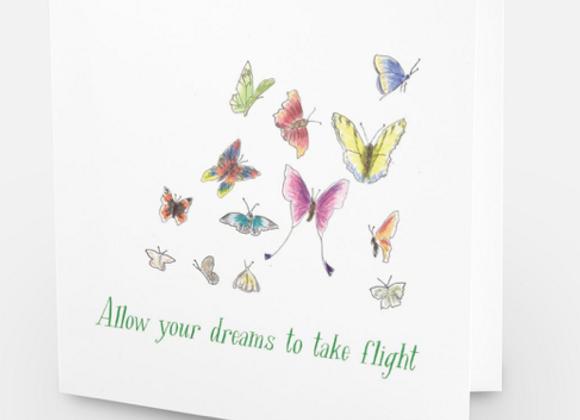 Dreams take flight card