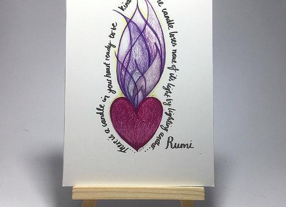 Simply be more Rumi Postcard