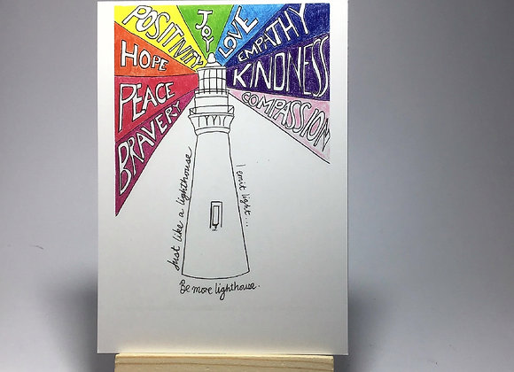 Be More Lighthouse Postcard