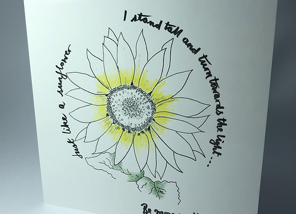 Be More Sunflower (with or without seeds)