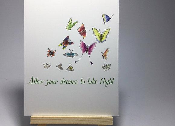 Allow your dreams to take flight postcard