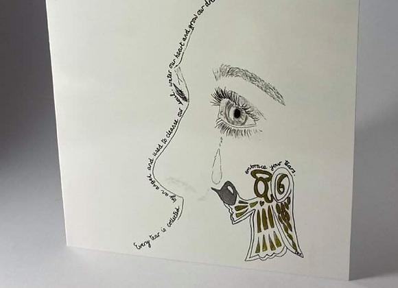 Angel Tear Greeting Card