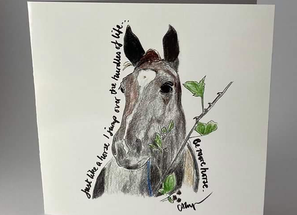 Horse Lover Card, Be More Horse Greeting Card