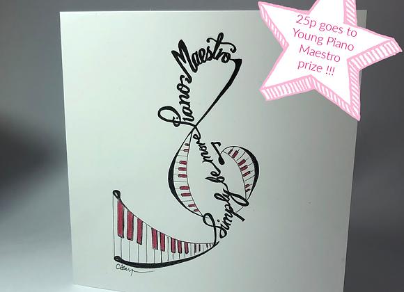 Piano Maestro Card