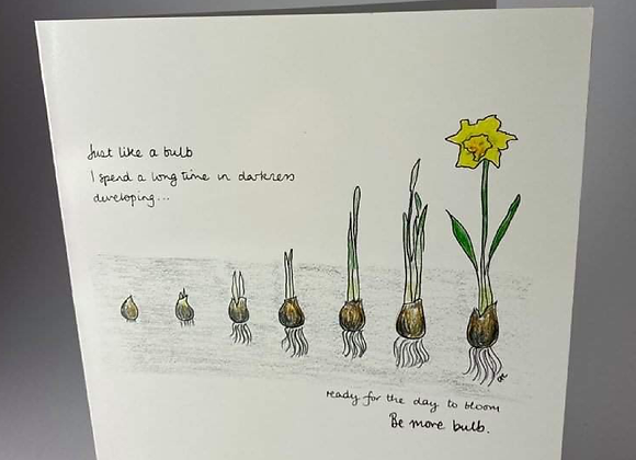Be More Bulb Greeting Card