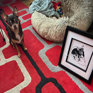 Luther the Broadway Star with his portrait