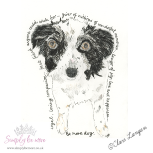 This is the sketch I did. I just loved spending time with this gorgeous doggie