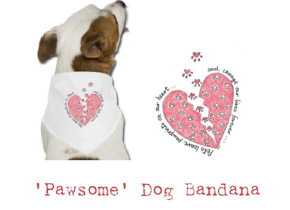 'Pawsome' Dog Bandana