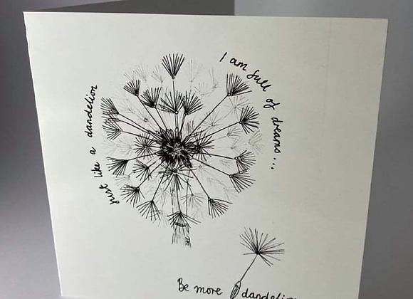 Be More Dandelion Greeting Card
