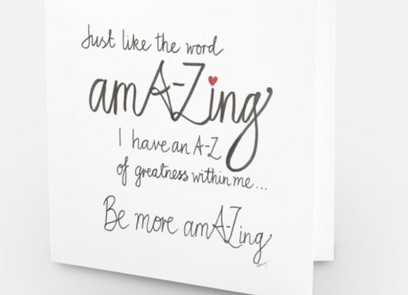 amA-Zing card