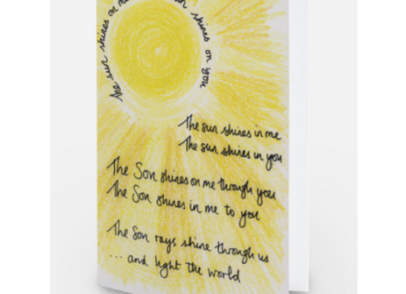 Shine in, out and through card