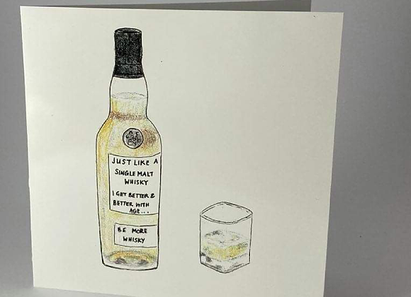 Whisky Lovers Greeting Card, Be More Whisky