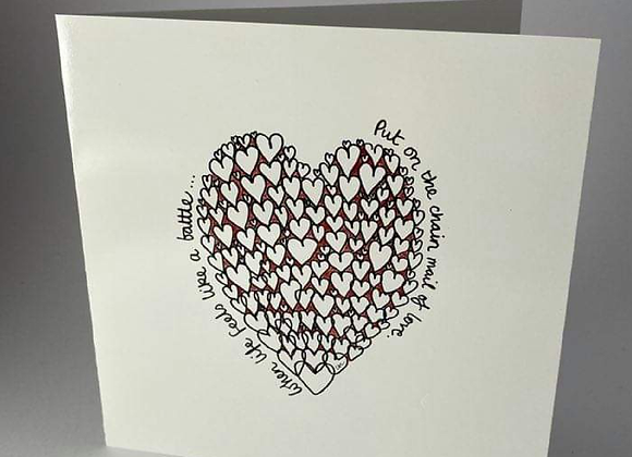 Chainmail of Love Greeting Card