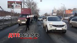 Крупное ДТП произошло сегодня в Самаре на Московском шоссе.Столкнулись около 12 машин.Информация уто