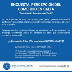 ENCUESTA: PERCEPCIÓN DEL COMERCIO EN SALTA
