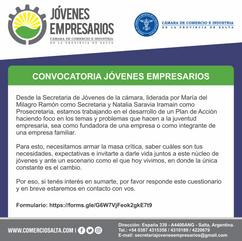 CONVOCATORIA: JÓVENES EMPRESARIOS DE SALTA