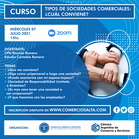 """CURSO """"TIPOS DE SOCIEDADES COMERCIALES: ¿CUAL CONVIENE?"""" (GRABACIÓN)"""